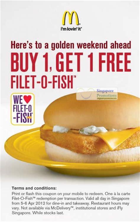 Mcdonalds Deal Calendar Mcdonalds 4 Apr 2012 187 Mcdonald S Singapore 1 For 1 Filet