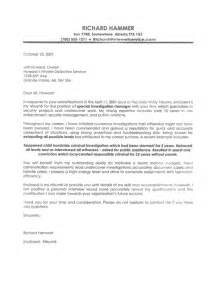 enforcement cover letter sle