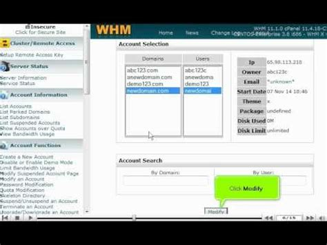 tutorial web host manager disable or enable demo mode in whm 11 web host manager