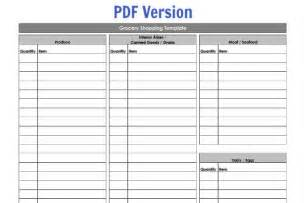 grocery list template by aisle grocery shopping template my routine 100 days of