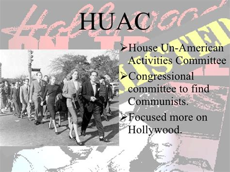 the house un american activities committee huac