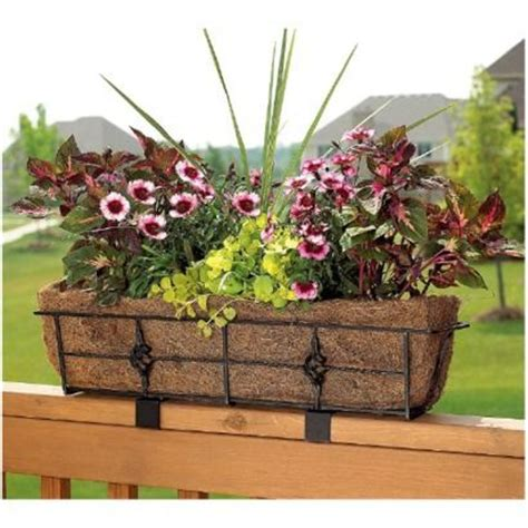 Balcony Railing Planter by Antoinette Deck Rail Planter Deck Rail Planters