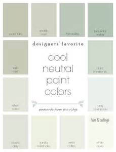 neutral colour designers favorite cool neutral paint colors from