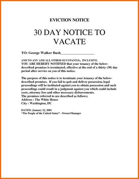 30 Day Moving Notice Letter by Moving Out Notice Template Virtren