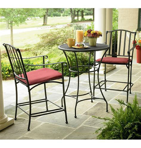 Essential Garden High Wrought Iron Bistro Outdoor Living Sears Wrought Iron Patio Furniture
