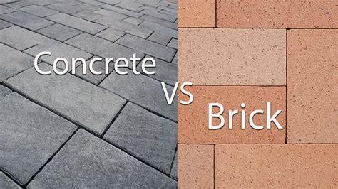 concrete patio vs pavers concrete vs brick pavers pavertime