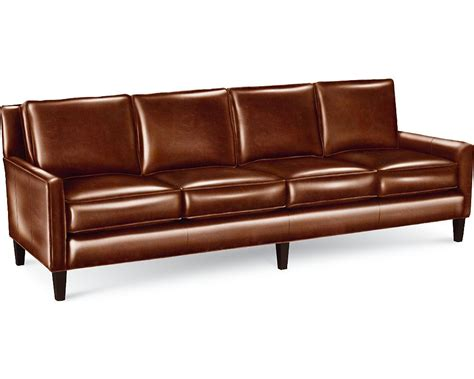 short sofa furniture brown top grain leather sofa with double