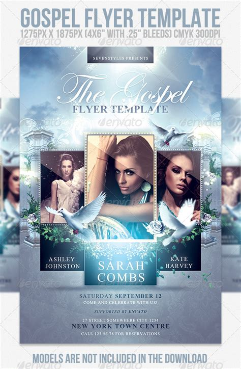 Gospel Flyer Template gospel flyer template www moderngentz your