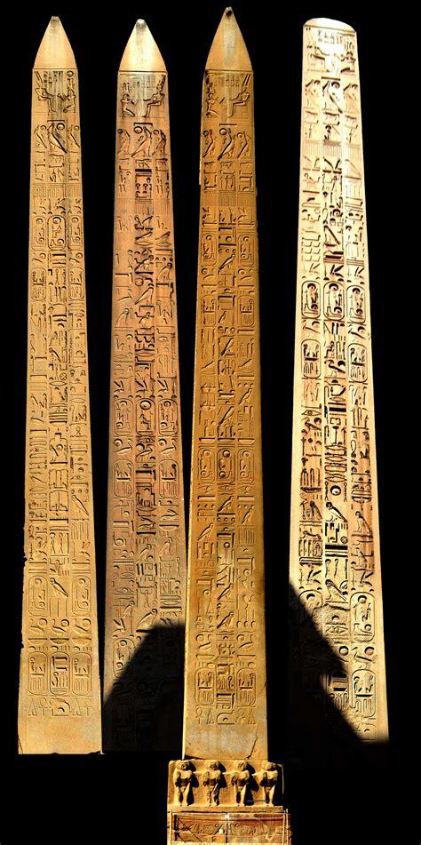 obelisk  luxor temple egyptian hieroglyphs