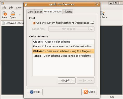 gedit color schemes geekybits 179 changing the color scheme in gedit
