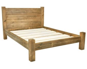 Handcrafted Bed Frames - box or wood slats mattress boxspring platform