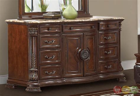 granite top bedroom set unity cherry traditional cherry upholstered bedroom set with stone tops rpcmo02
