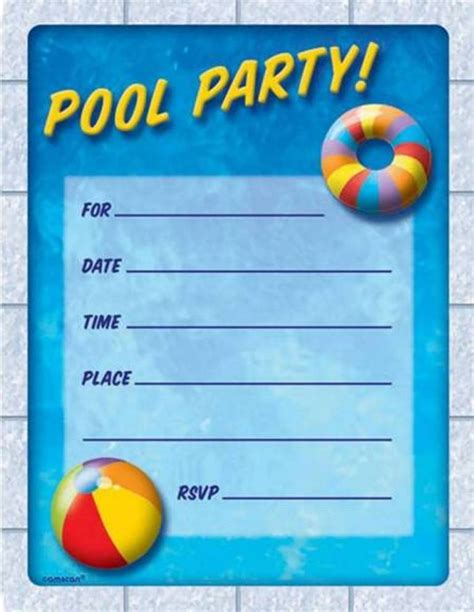 Pool Invitation Template diy make pool invitations free printable tedxumkc