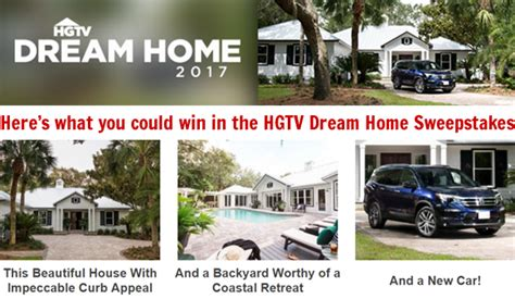 Home Sweepstakes And Giveaways - hgtv dream home 2017 giveaway sweepstakes