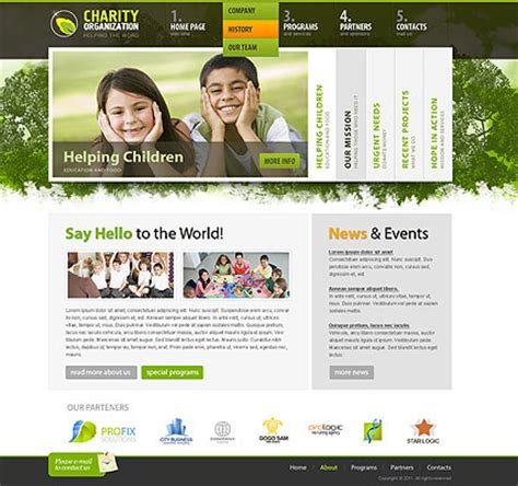 Charity Organizationhtml Template At Www Flashtemplatestore Com Free Website Templates For Charity Organization