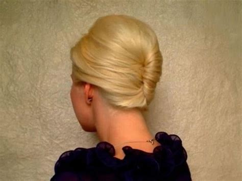 Hairstyles From Behind | 50s french roll hairstyle from behind bridesmaids