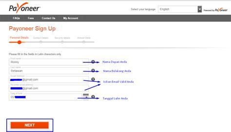 cara membuat paypal untuk ptc cara daftar payoneer untuk memverifikasi akun paypal