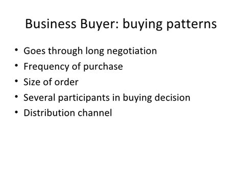 pattern guide definition consumer buying behaviour