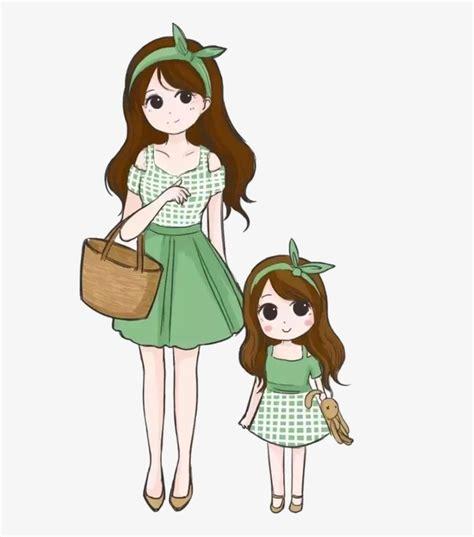 imagenes lindas madre e hija dibujos animados de madre e hija madre e hija cartoon