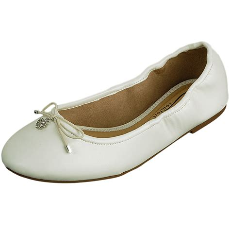 womens white flat dress shoes womens ballet flats slip on ballerina slippers casual