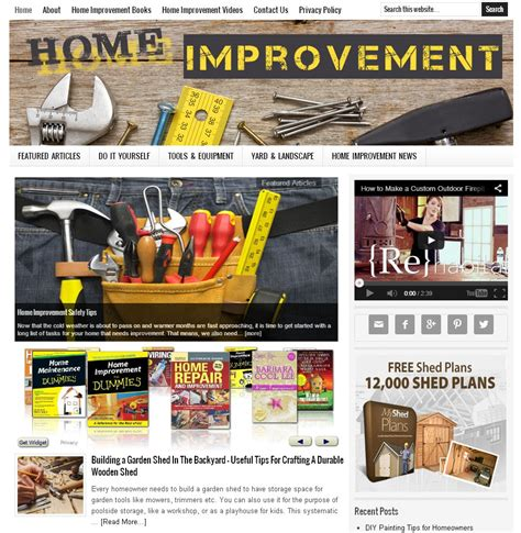 home improvement website amaraq websites