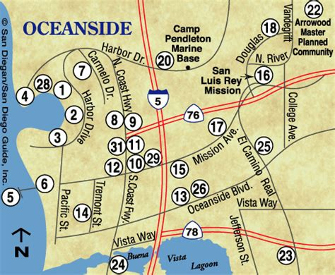 oceanside ca map oceanside california map