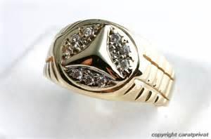 Mercedes Gold Ring Mercedes Herrenring In 14 Kt 585 Gold Ring Mit U