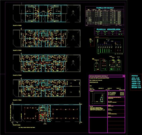 electrical installation building dwg block for autocad