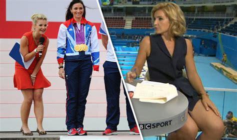 helen skelton rio olympics 2016 host wardrobe malfunction who is helen skelton olympic presenter in skimpy dress