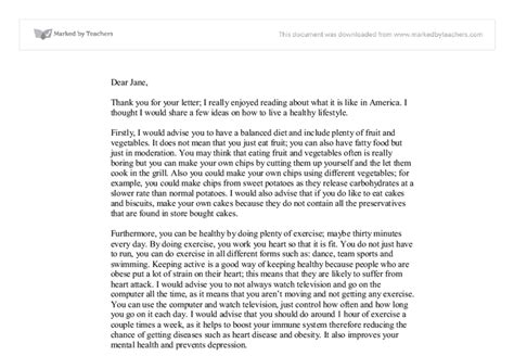 Formal Letter Sle Gcse Write A Letter To A Penpal In The Usa Advising Them On How