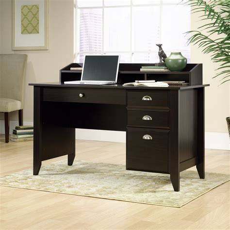 sauder shoal creek jamocha wood computer desk 409733