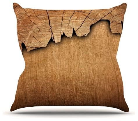 Natures Pillows Inc by Susan Sanders Quot Wood Quot Rustic Nature Throw Pillow