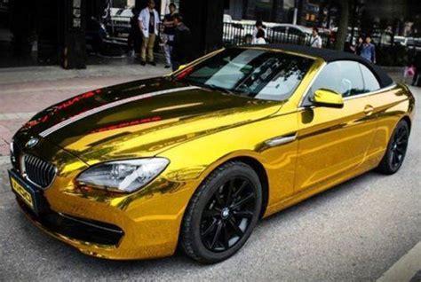 gold glitter car nuoya001 bubbles free 12x60 car mirror chrome gold
