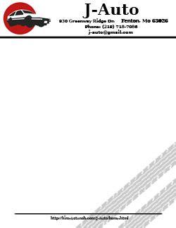automotive business letterhead template himeko