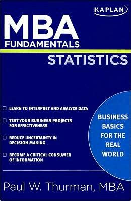Noble Mba Noble Lmunet Edu by Mba Fundamentals Statistics By Paul W Thurman