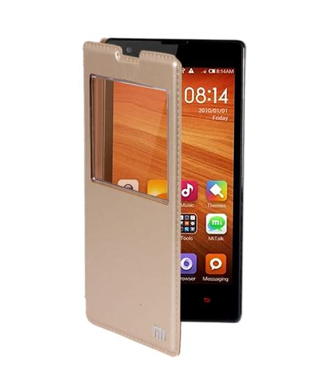 Gea Flip Cover Xiaomi Redmi 3 Gold koloredge leather flip cover for xiaomi redmi 1s gold