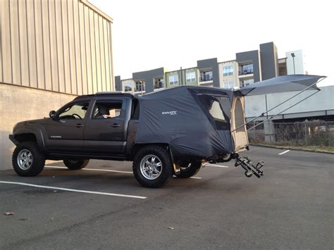 toyota tacoma bed tent tested my cheap truck tent today tacoma world forums