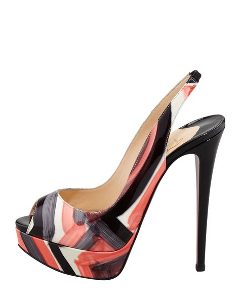 Christian Louboutin Hyde Park Sandals by Christian Louboutin Peep Painted Slingback Sole