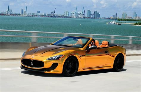 rose gold maserati car golden maserati grancario by velos designwerks