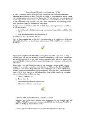 Calaméo - How to Convert Microsoft Word Document to PDF file