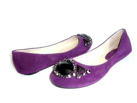 purple flats shoes new purple suede casual flat womens shoes ebay