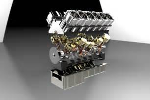 V12 Engine V12 Engine Step Iges Solidworks 3d Cad Model Grabcad