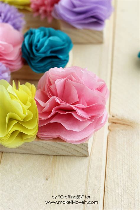 What To Make With Tissue Paper - tissue paper flower letters make it and it