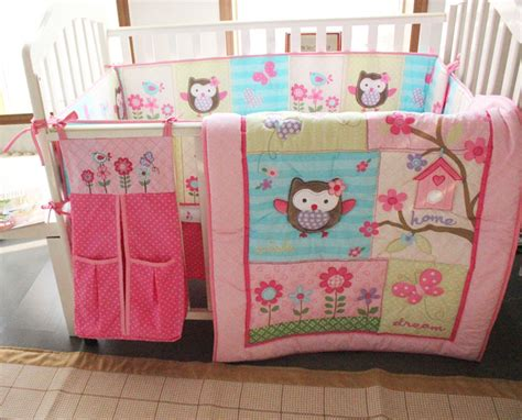Crib Bedding Sets With Bumper Aliexpress Buy 8pcs Baby Cot Crib Bedding Set Embroidery Quilt Bumper Sheet Dust Ruffle