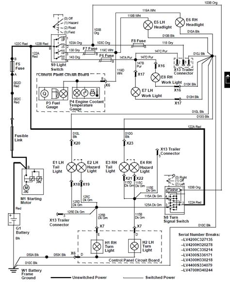 wiring diagram for tractor lights simple brake light