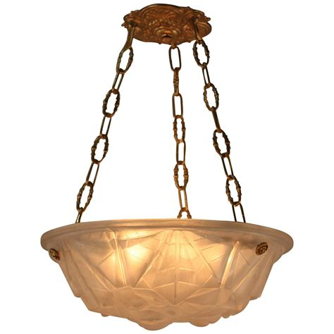 deco chandelier deco chandelier by degue at 1stdibs