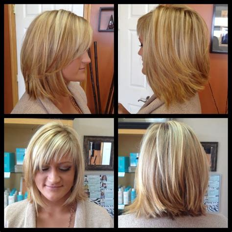 how to foil shorter bangs balayage highlights w chesnut lowlights angled bob