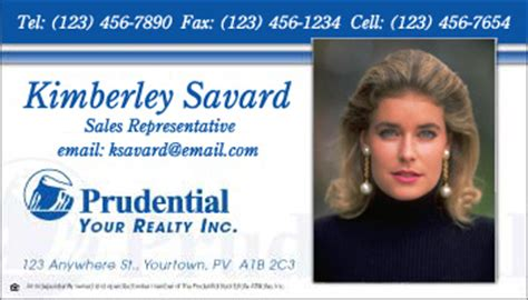 https www realty cards order template rac102a html business card style prudential template 1010