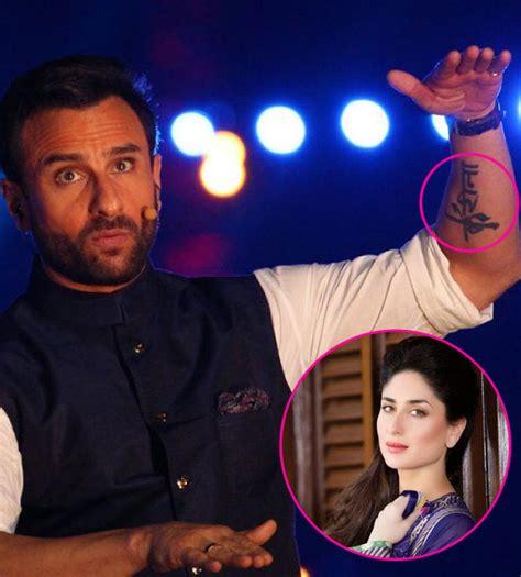 tattoo saif ali khan why kareena kapoor khan will never sport a saif ali khan