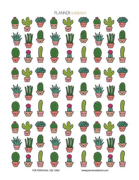 Kawaii Cactus ? Planner Addiction